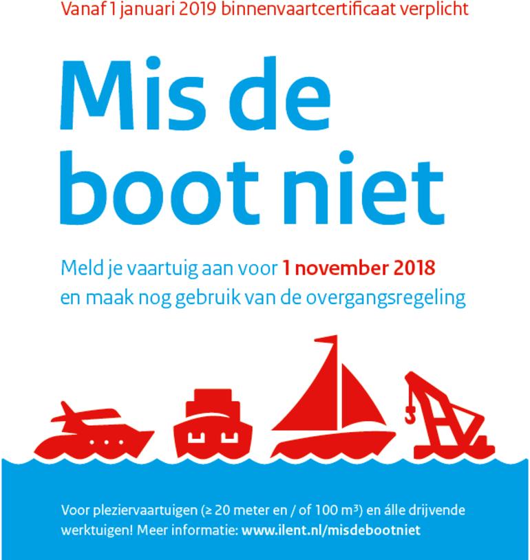 Mis de boot niet! Meld je vaartuig aan voor 1 november!
