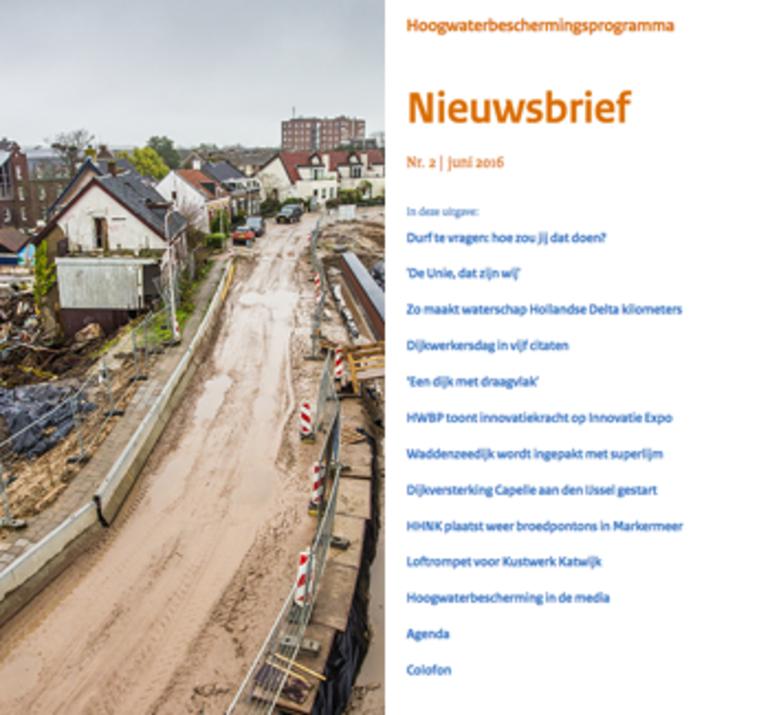 Nieuwsbrief Hoogwaterbeschermingsprogramma juni 2016